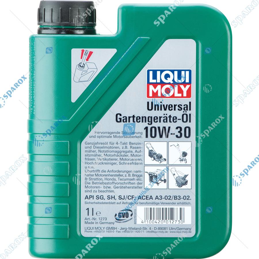 LIQUI MOLY-8037 Масло моторное минеральное для газонокосилок Universal 4-Takt Gartengerate-Oil 10W-30 (1 л)