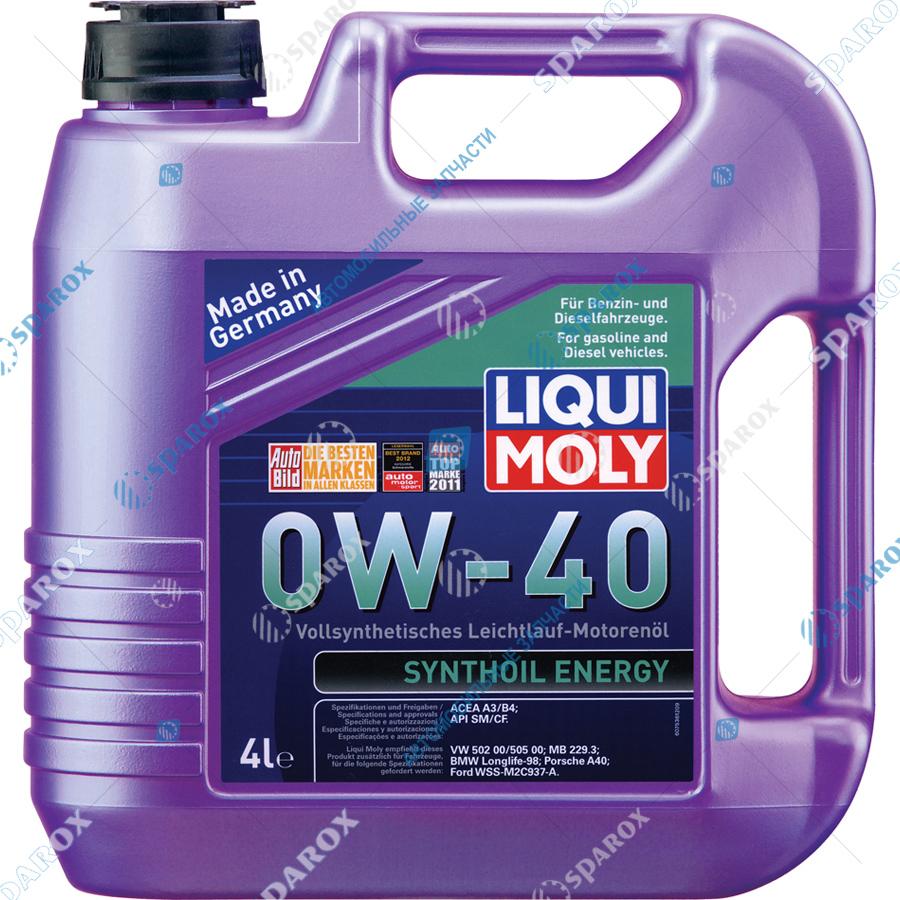 LIQUI MOLY-7536 Масло моторное синтетическое Synthoil Energy 0W-40 (4 л)