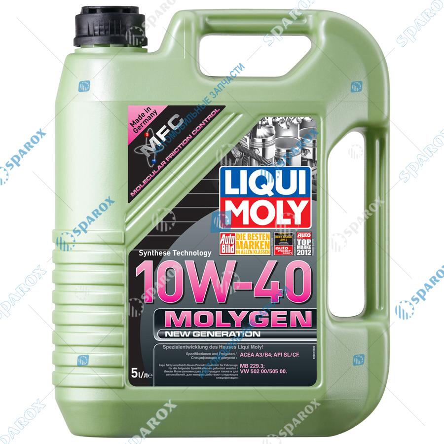 LIQUI MOLY-9061 Масло моторное НС-синтетическое Molygen New Generation 10W-40 (5 л)