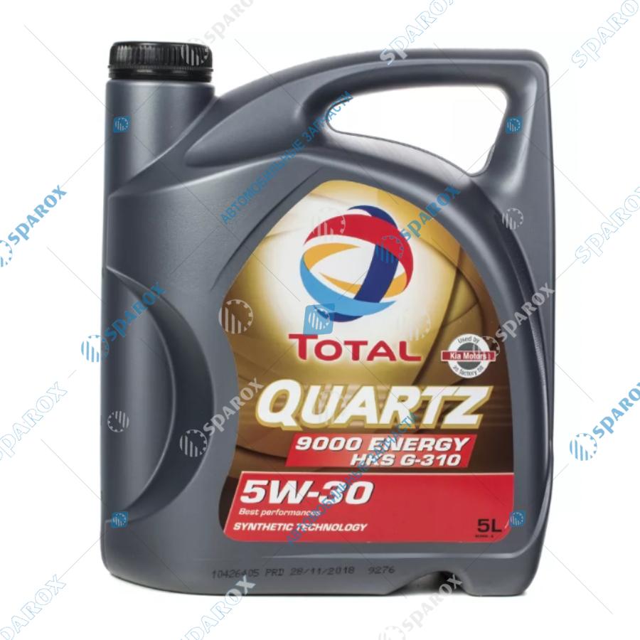 TOTAL-213800 Масло моторное синтетическое TOTAL QUARTZ 9000 ENERGY HKS 5W-30 (5л)