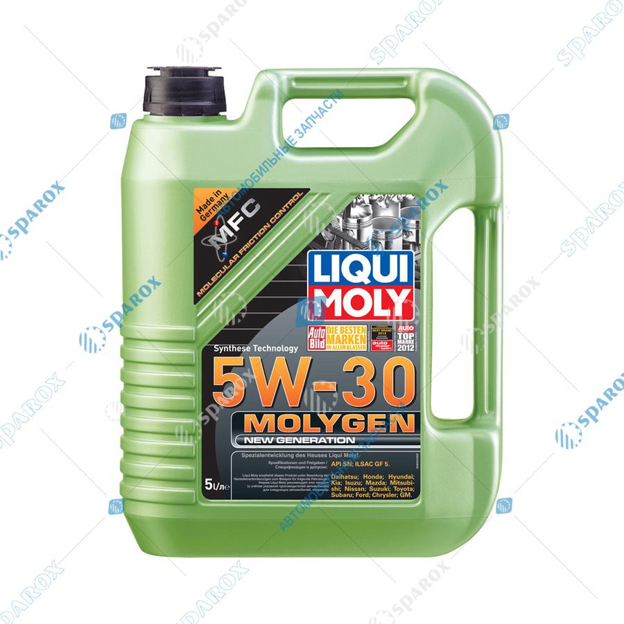 LIQUI MOLY-9043D Масло моторное НС-синт. Molygen New Generation 5W-30  (5л)+ фонарик