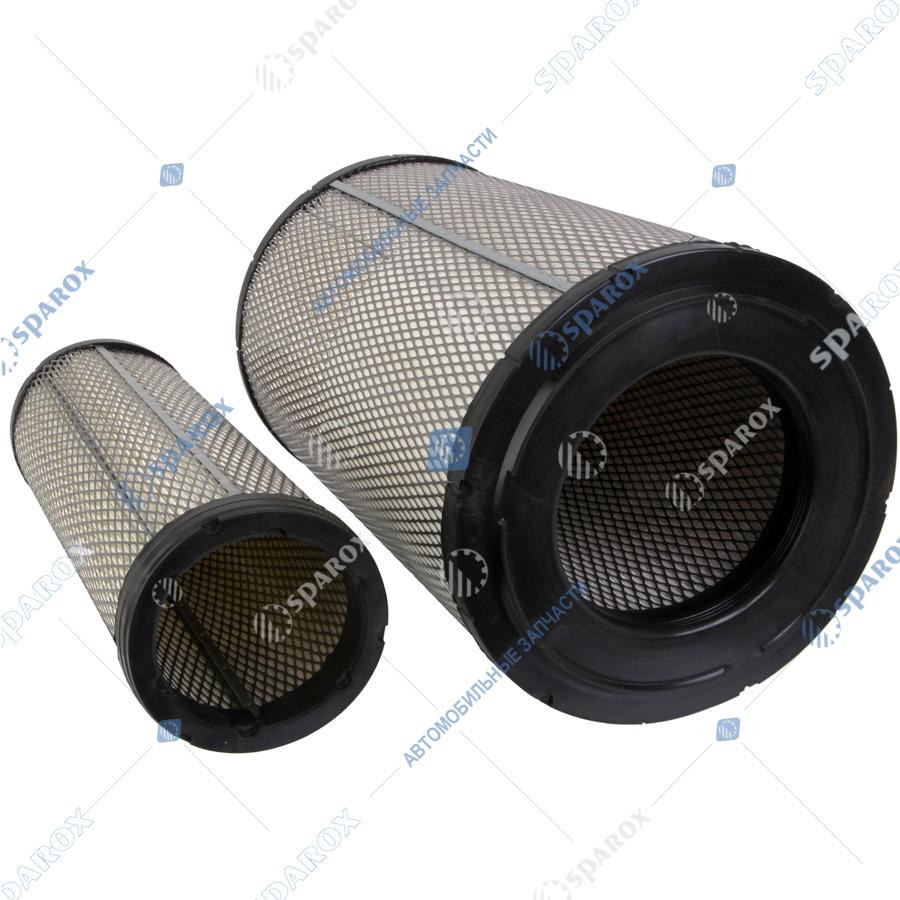 ЭФВ725-1109560(-10) Элемент фильтрующий + элемент безопасности  воздушного фильтра КАМАЗ (г.Ливны)