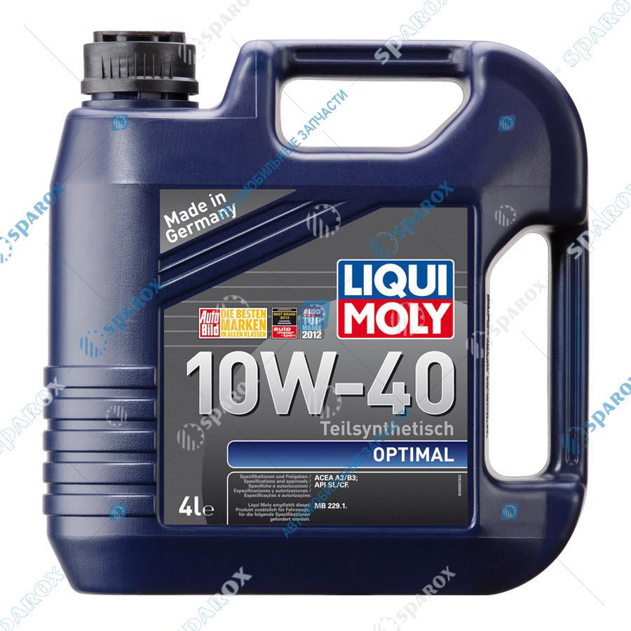 LIQUI MOLY-3930 Масло моторное  полусинтетическое 10W-40 Optimal (4 л) (см. 2287 по Акции)