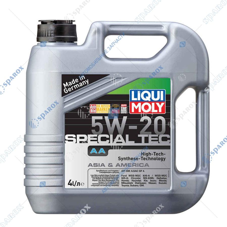 LIQUI MOLY-7621 Масло моторное НС-синтетическое Special Tec AA 5W-20 (4 л)