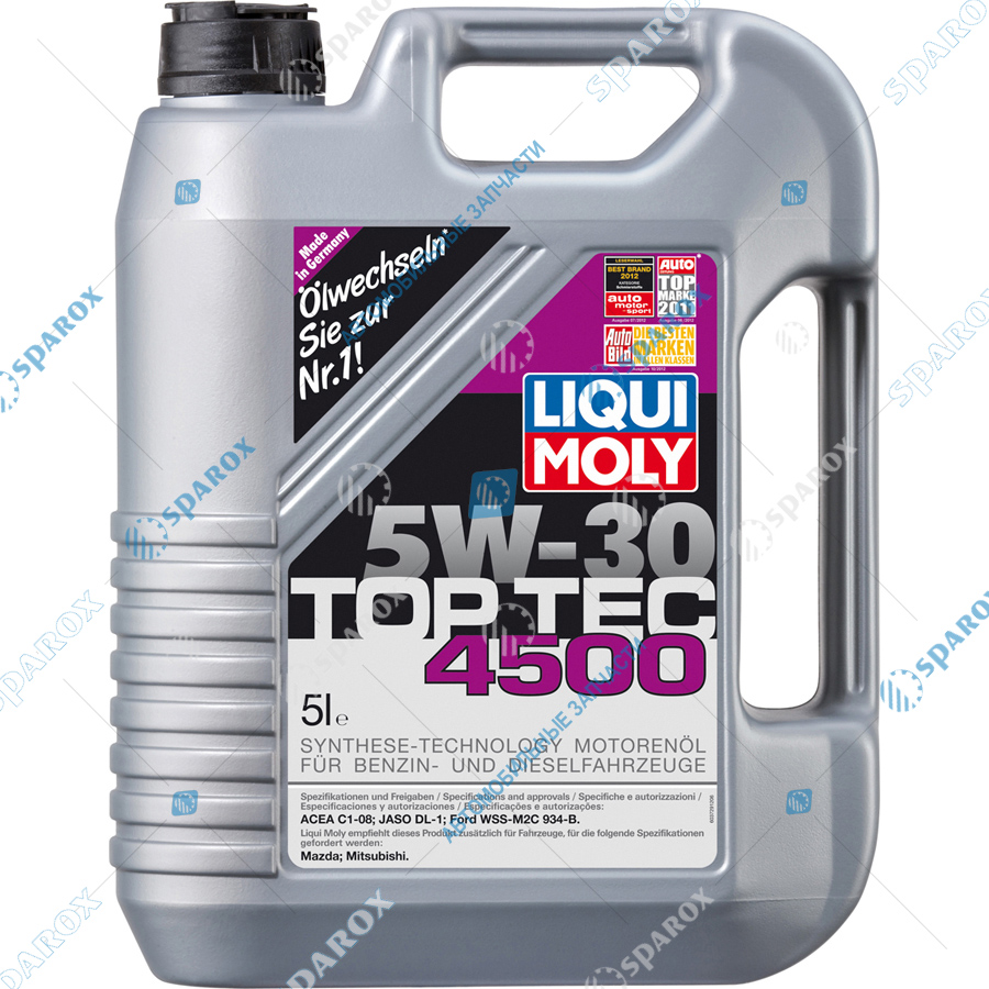 LIQUI MOLY-2378 Масло моторное НС-синтетическое Top Tec 4500 5W-30 (5 л)