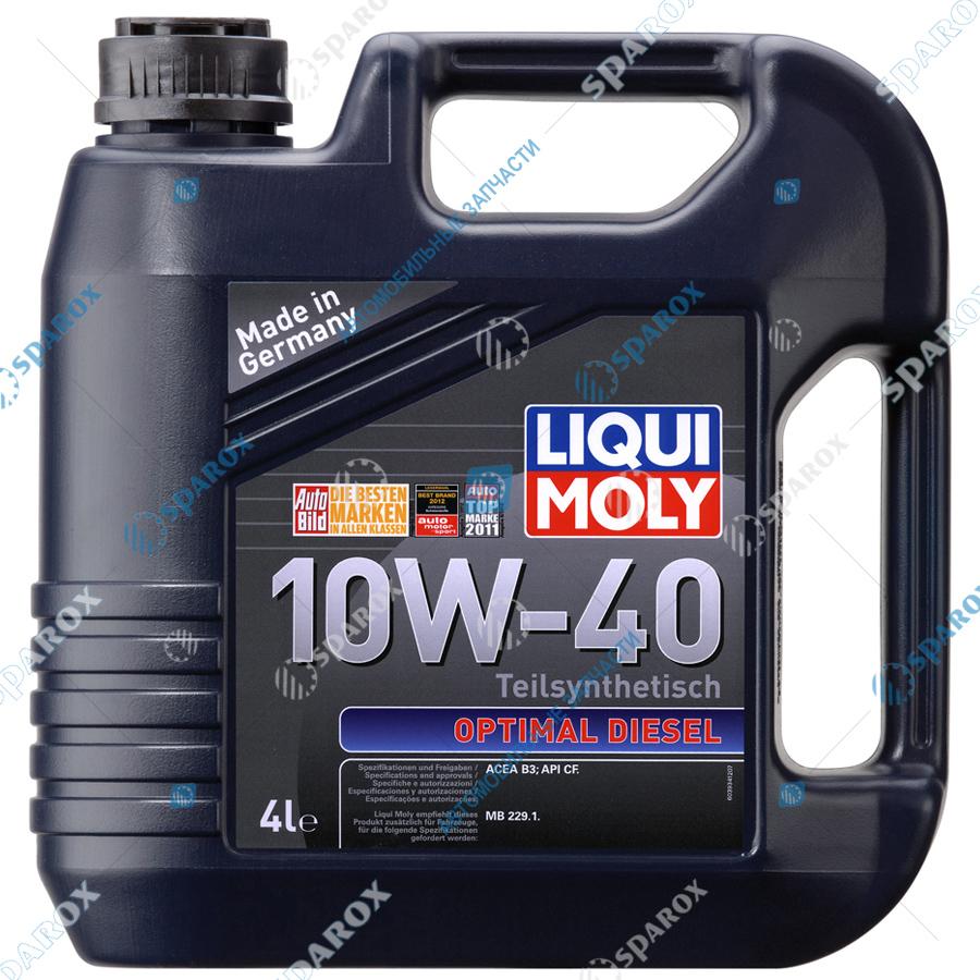 LIQUI MOLY-3934 Масло моторное полусинтетическое Optimal Diesel 10W-40 (4 л)