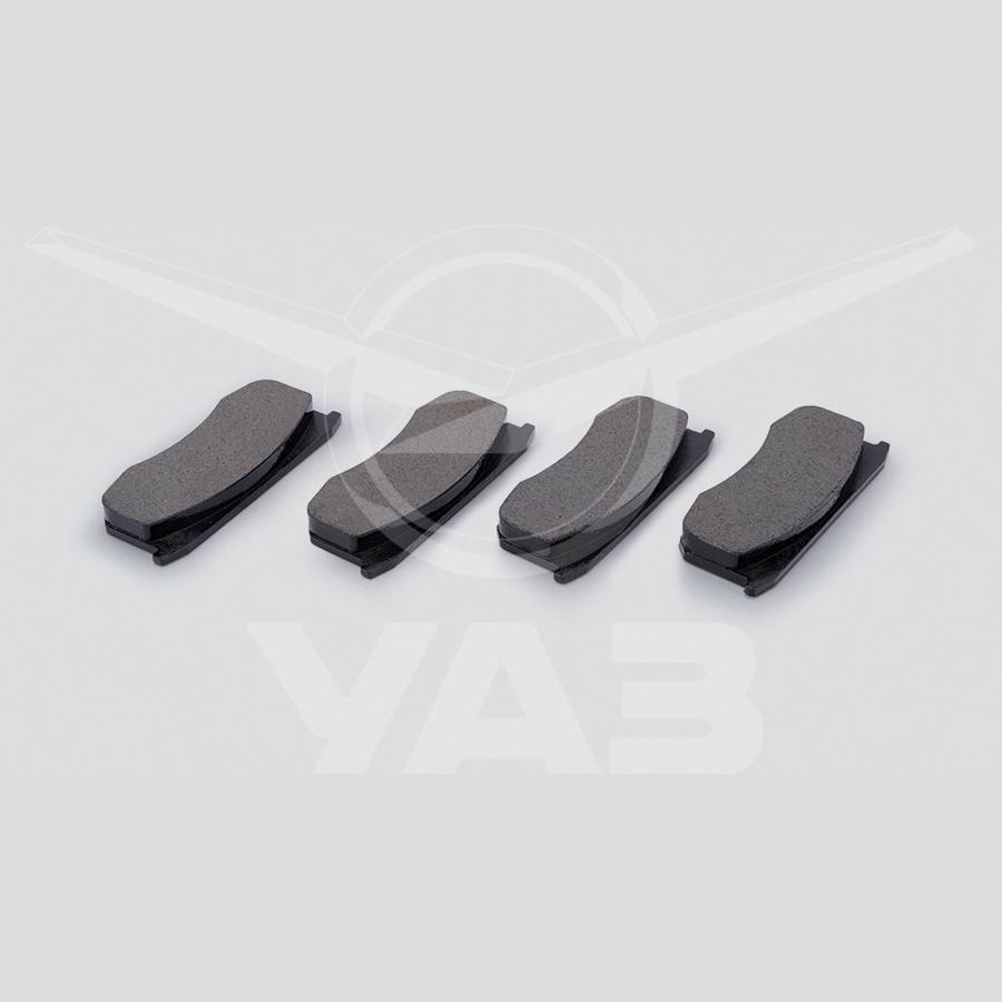3163-3501088 Колодка тормоза передняя УАЗ (ОАО УАЗ) комплект 4 шт.