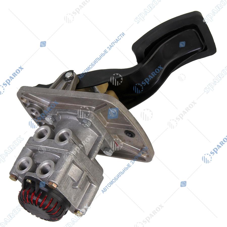 3297-3514208 Кран тормозной КАМАЗ 2-секционный с педалью (ПАО КАМАЗ)
