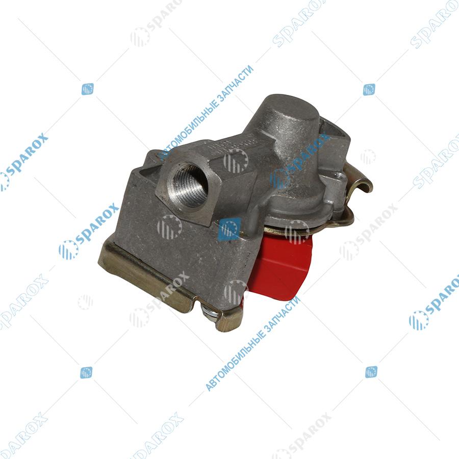 6022-3521110-00 Головка соединительная (красная) 16мм с клапаном (9522002210) (БелОМО)