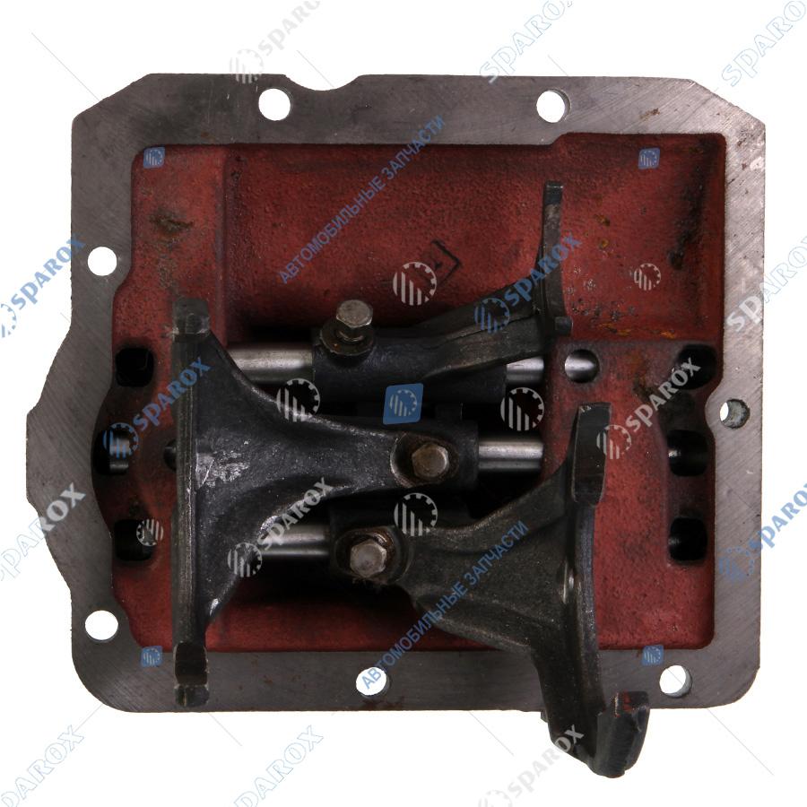 3741-1702010-11 Крышка коробки переключения передач (КПП) нового образца УАЗ-452 (механизм переключения) (ОАО АДС)